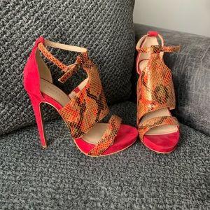 Bebe snakeskin heels